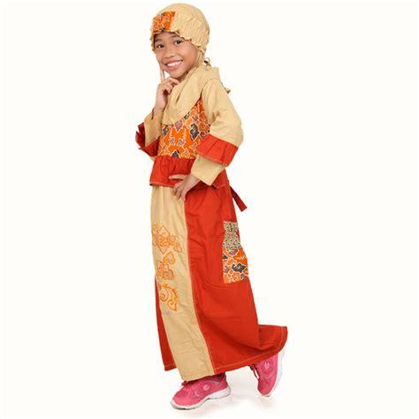 Baju Anak Muslim Kiddos Yuk Shalat detail produk baju anak muslimah megamendung orange toko