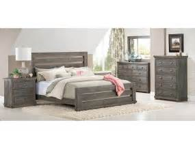 slumberland willow collection 5pc gray slat room pkg