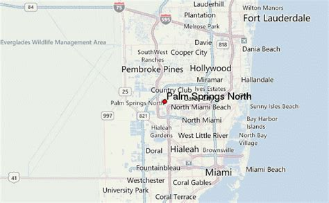 where is palm springs florida on a map palm springs location guide