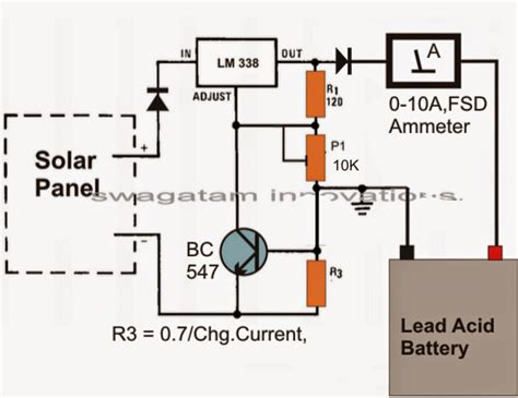 simple solar battery charger circuit electronic circuit