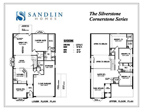 sandlin floorplans silverstone sandlin homes