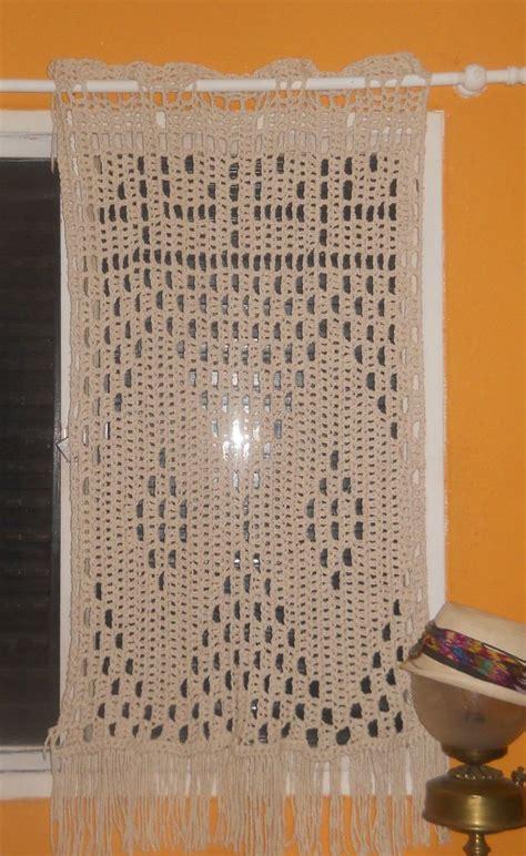 cortinas tejidas fotos de visillos en crochet imagui