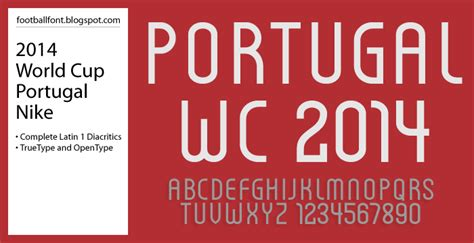 dafont angka football fonts fifa world cup 2014 portugal jersey font