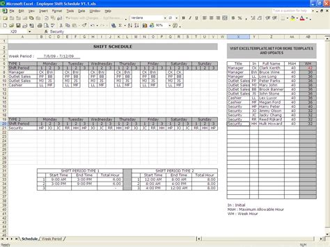 employee shift scheduling spreadsheet laobingkaisuo com