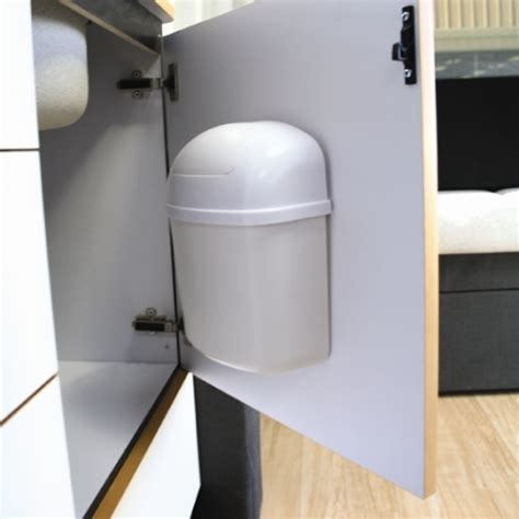 Door Mounted Kitchen Garbage Can With Lid by Cabinet Mount Trash Can In Rv Accessories