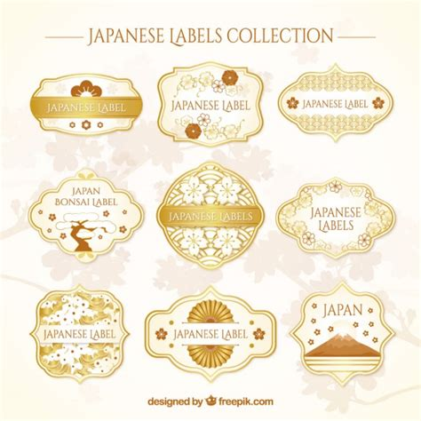 Etiketten Japan by Japanese Labels Collection Vector Free