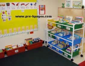 Pre K Classroom Decorating Themes - classroom library center in preschool pre k and kindergarten