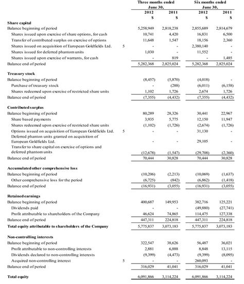 interim financial report template interim financial statement template 2012 second quarter