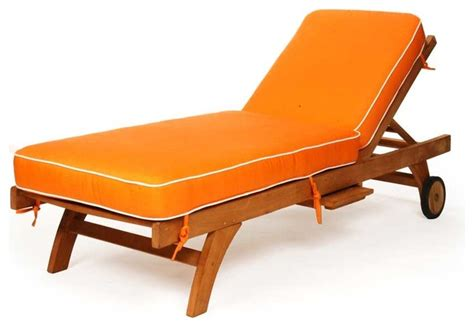 rustic outdoor chaise lounge caluco teak single chaise
