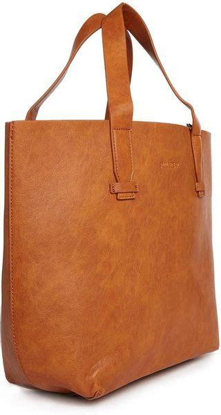 Pullbear Bag pull shopper bag in in brown lyst