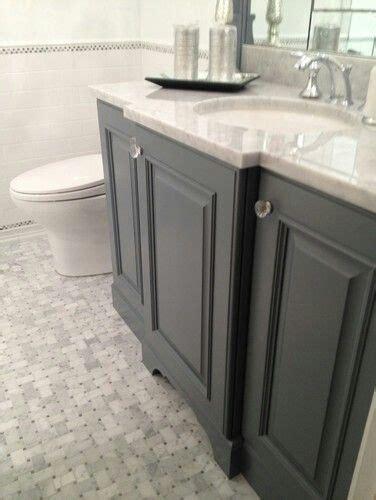 marble basket weave vanity color  master bath grey