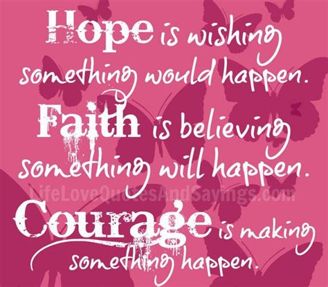 life quotes hope is wishing something would happen quote