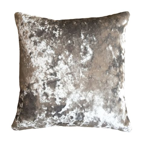 Silver Cusions grey silver velvet cushion bonny boutique