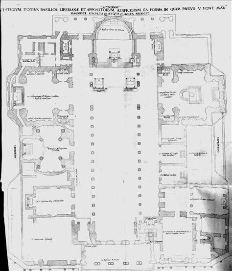 floor plan of the basilica di santa maria maggiore rome basilica floor plan basilica floor plan basilica floor