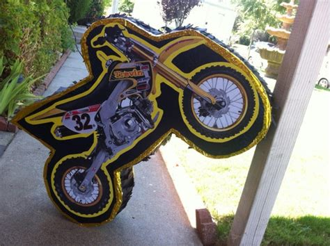 Dirt Bike Pinata By Pinataworks On Etsy   Kingsley