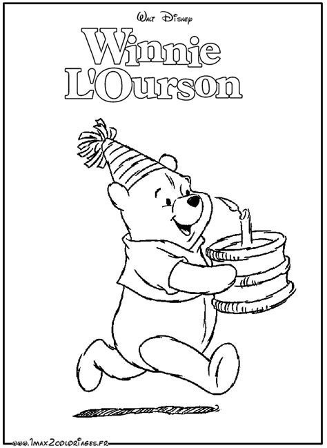 Coloriages Winnie L Ourson Par Walt Disney Winnie Et Le Dessin Nounours Coloriage Nounours A Imprimer L