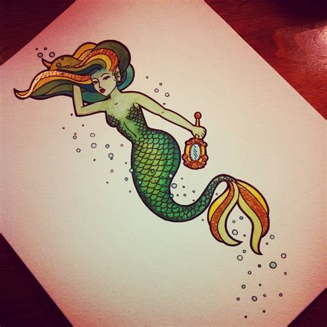 traditional mermaid tattoo neo traditional mermaid tattoos