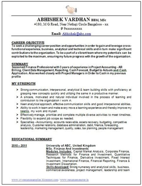 Best Resume Sles 2015 10000 Cv And Resume Sles With Free