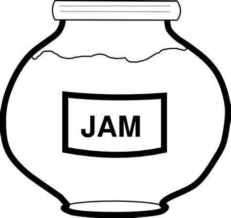 Jam Jar Outline Clip Art At Clker Com Vector Clip Art Jam Coloring Page