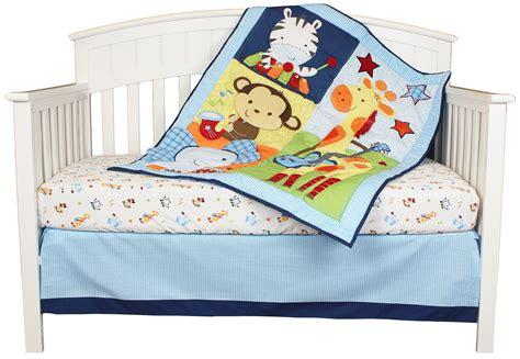 Elephant And Giraffe Crib Bedding Tune Time 3 Jungle Baby Crib Bedding Monkey Giraffe Elephant Set By Riegel Ebay