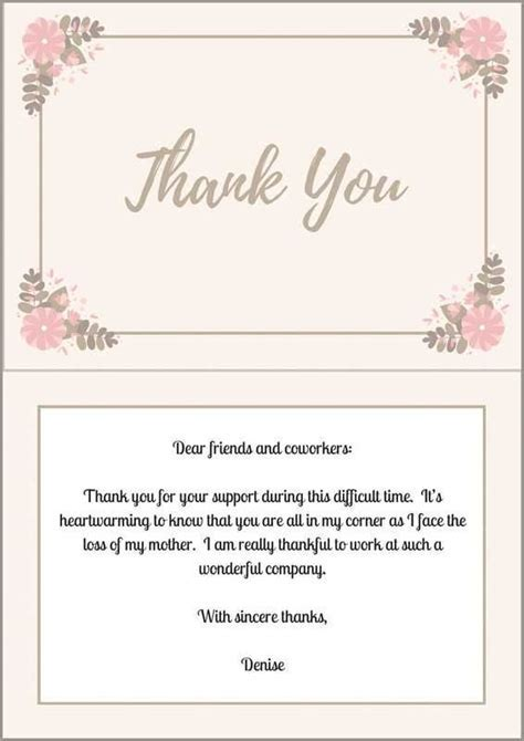 33  Best Funeral Thank You Cards   Thank you notes