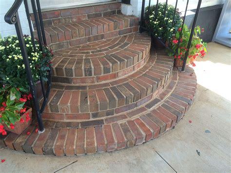 brick steps  entry brick steps front door steps