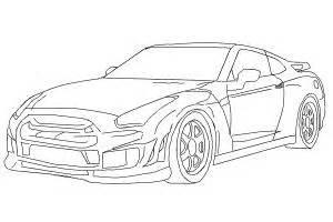 How To Draw A Nissan Gtr How To Draw A Nissan Skyline Drawingnow