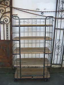 Bakers Rack With Wheels Industrial 5 Shelf Metal Wood Bakers Rack With Wheels