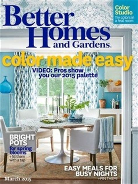 better homes and gardens magazine march 2015 eat your books