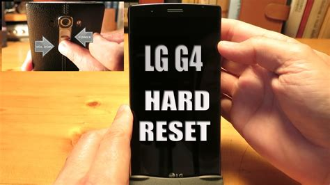 factory reset lg g4 lg g4 hard reset factory reset youtube