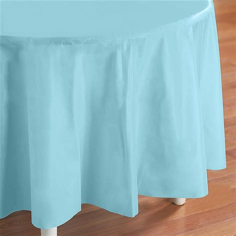 Light Blue Tablecloth by Light Blue Plastic Table Cover