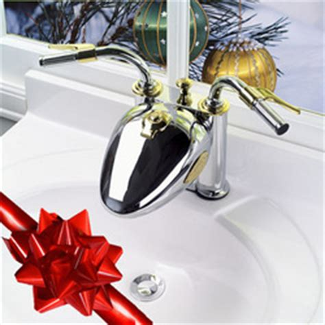 motorcycle faucet revs up holiday gift giving