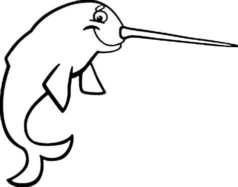 cute coloring pages of narwhals cartoon narwhal