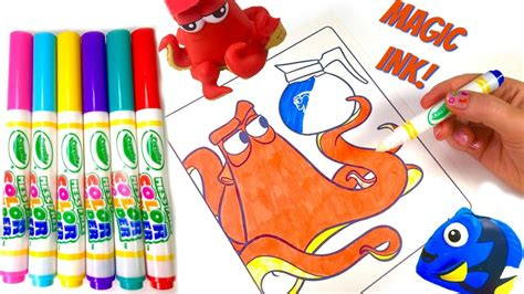magic ink coloring books finding dory hank crayola magic ink marker coloring book