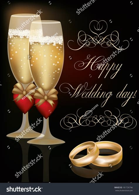 Wedding Day Images by Happy Wedding Day Greeting Card Vector Illustration