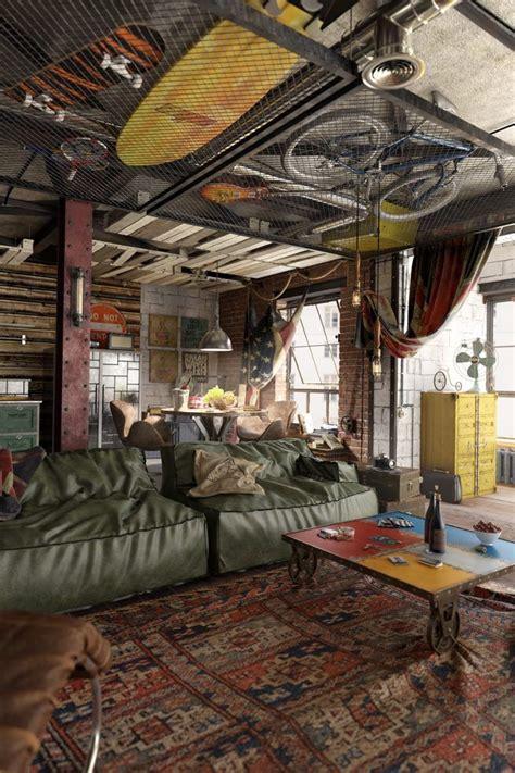 vintage garage interiors loft interiors loft design