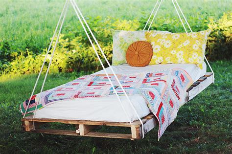 how to make a porch swing bed simple diy outdoor beds home design inside