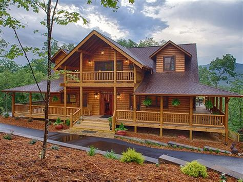 popular log cabin homes with wrap around porches best
