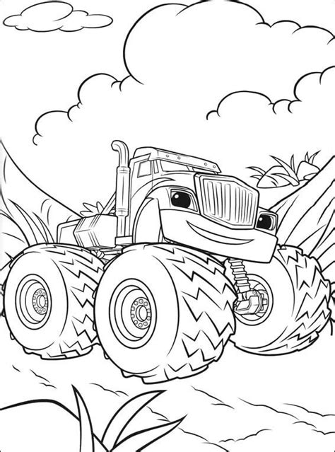Aj And Blaze Coloring Page Coloring Pages Aj Template
