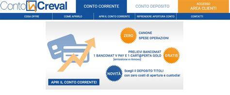 Banca Creval by Contoincreval Guida Al Conto Di Banca Di Credito Valtellinese