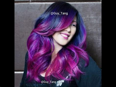 pink purple magenta color melt ombre hair youtube