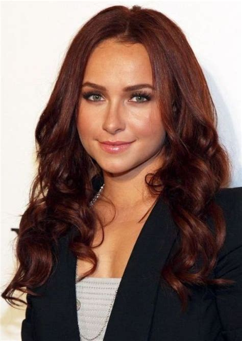 clebraties with auburn hair medium brown auburn hayden panettiere see more at 25