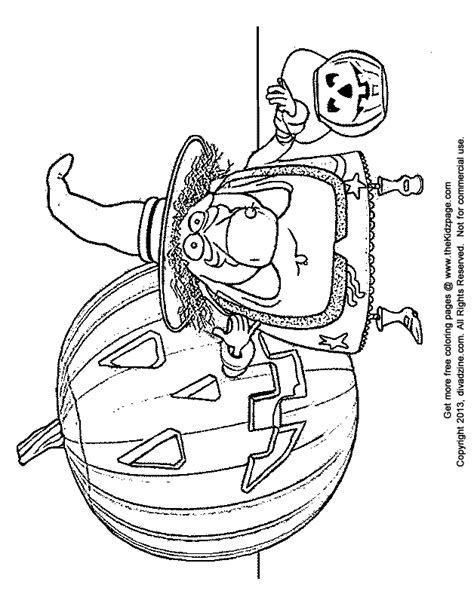 cartoon witch halloween free coloring pages for kids