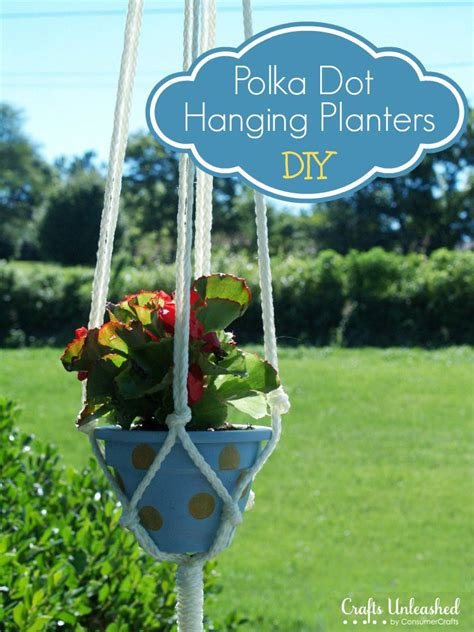 Diy Rope Hanging Planter by Diy Hanging Planter With Macrame Rope Crafts Unleashed