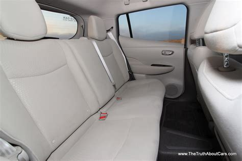 nissan leaf seat covers 2012 2012 nissan leaf interior rear seats photography