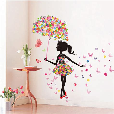 diy wall stickers pvc large wall sticker pink girl butterfly bedroom wall stickers home decor