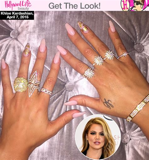 Khloe Kardashian?s Pink Nails ? Get Her Trendy Pink & Gold Manicure   Hollywood Life