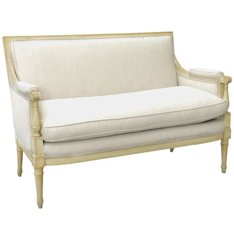 Upholstered Settees pair of swedish style upholstered settees on antique row west palm florida