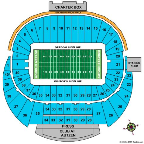 autzen stadium seating autzen stadium seating chart