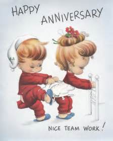 happy anniversary team work you ve got going on there vintage anniversary cards